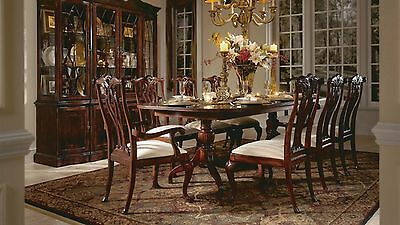 American Drew Cherry Grove Double Pedestal Dining Table Antique Finish Set