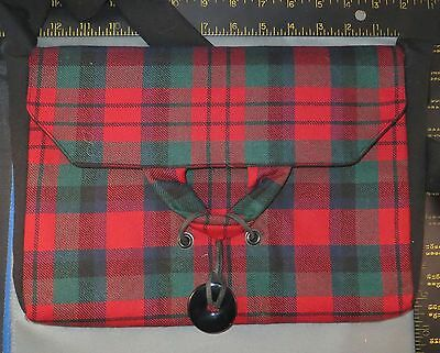 Scottish MacDuff Tartan Shoulder Bag, Handmade, Original Design