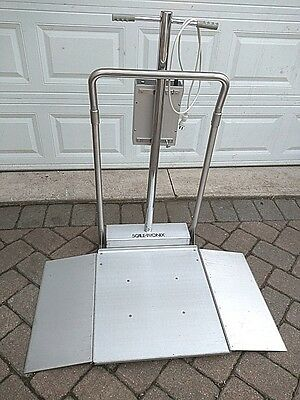 Scale-Tronix 6006 Digital Wheelchair Bariatric Patient Stand-On Scale - Nice!