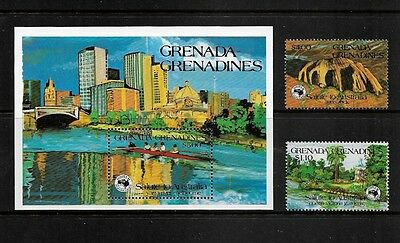 GRENADA GRENADINES - 1984 Ausipex 84, mint mini sheet & set of 2, MNH MUH