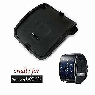 Galaxy Gear S Charger Fit Dock Cradle Micro USB Cable Smart Watch SM-R750 Black