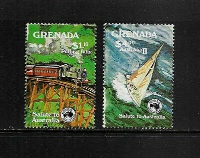 GRENADA - mint 1984 Ausipex 84, Puffing Billy, Australia II, set of 2, MNH MUH