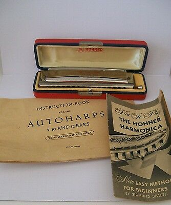 Vintage HOHNER 64 Chromonica Professional Model Harmonica book music