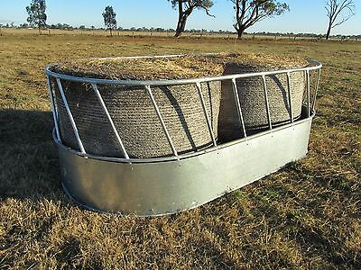Hay Saver Round Bale/Large Square Bale Cattle Hay Feeder