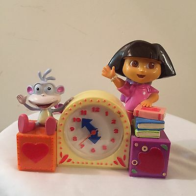 Dora The Explorer & Boots Singing Alarm Clock-Works Great