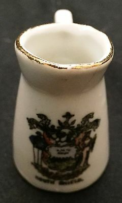 Vintage South Shield Crest souvenir Porcelain Mini Pitcher Unmarked piece