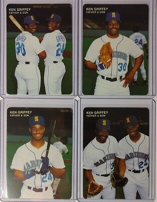 f44620a5b8 Ken Griffey Jr * 1991 Mother's Cookies Father And Son Complete Set Hof  Mariners