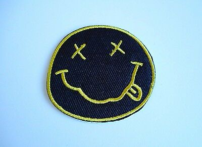 1x Nirvana Rock Band Patch Embroidered Cloth Applique Badge Patches Iron Sew On