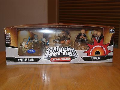 """Star Wars Galactic Heroes """"Cantina Band"""" sealed box Walmart excl w/sound & light"""