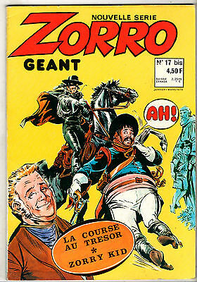 ZORRO GEANT nouvelle serie n°17 bis ¤ 1978 occident ¤ ZORRY KID