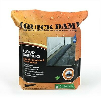 Quick Dam 6 In. X 10 Ft. Expanding Barrier Compact Durable and Reusable New