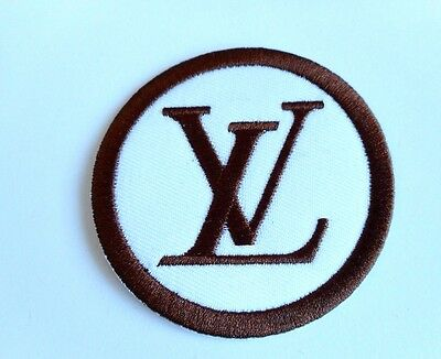 1x LV Vuitton Logo Patch Embroidered Cloth Applique Badge Iron Sew On
