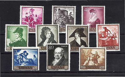 Spain Stamps - 1958 Stamp Day & Goya Commemoration In MNH Condition