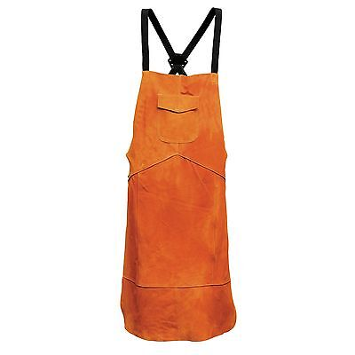 Portwest Leather Tan Welding Welders Work Safety Protection Apron Pocket SW10
