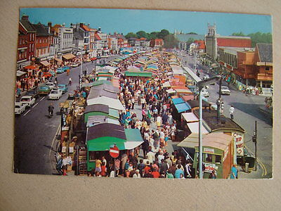 Postcard - MARKET SQUARE, GREAT YARMOUTH. Unused. Standard size.