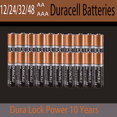12 / 24 / 36 / 48 Brand New Genuine Alkaline Duracell 1.5V AA AAA Size Batteries