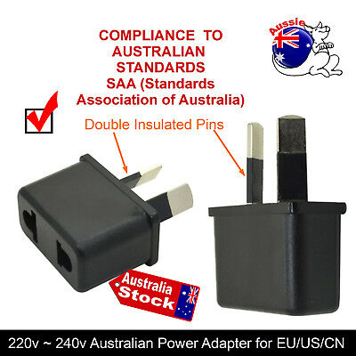 SAA ELECTRICAL 240v TRAVEL 2 PINS POWER ADAPTER AU TO USA CHINA EUROPE PLUG