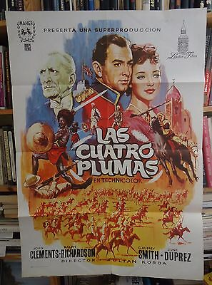 THE FOUR FEATHERS/RALPH RICHARDSON/spanish poster