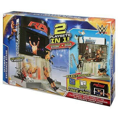 Mattel Wwe Electronic Ultimate Entrance Stage Playset - 2 sets in one - New