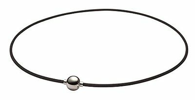 Phiten necklace RAKUWA neck X 100 Mirror ball Silver 40 cm Yuzuru Hanyu Japan