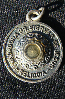 Maria Josefa of the Heart of Jesus Rare Old Reliquary Medal Pendant