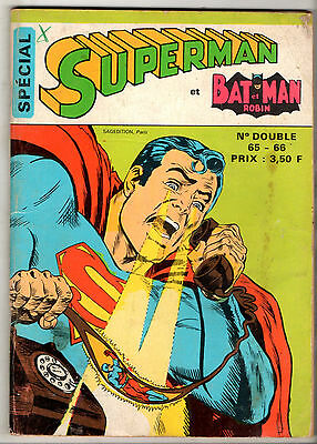 ¤ SPECIAL SUPERMAN ET BATMAN ET ROBIN n°65/66 ¤ 1974 SAGEDITION
