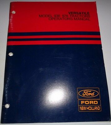 Ford new holland 3415 tractor owners operators manual maintenance versatile 936 976 tractor operators owners manual ford new holland original fandeluxe Image collections