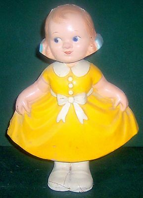 1930's Bobby Mae Swing and Sway Doll Antique Rare Paper Mache Bobble Head