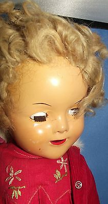 """Ideal Shirley Temple 1934 First Edition, 16"""" composition,original hair & dress"""