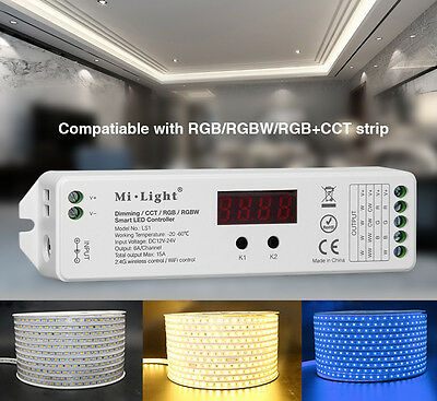 Mi-Light 2.4 GHz 4 in 1 RGBW LED Smart Controller LS1 WLAN WIFI 99 Zonen 12V 24V