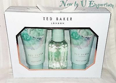 Ted Baker~Mini Trio Gift Set 50ml body spray, lotion & wash-NEW