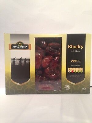 1 Kg Khudry/ Khudri Dates Premium Soft & Juicy 100% Natural, Boxed Kings Madina