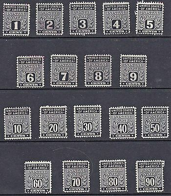 US stamps - PN1-PN12 - Postal Note Stamps - 1945  - used - B6643