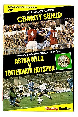 1981 Charity Shield Aston Villa v Tottenham Hotspur