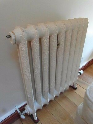 Reclaimed Pressure Tested Radiator Ornate Detail Cast Iron Vintage Heating.