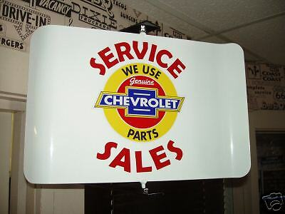 Chevrolet Parts  50S Era Spinning Wall Mount Ad Sign