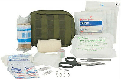 Elite First Aid Tactical Trauma Kit #1, Police EMS Military LE, OD Green