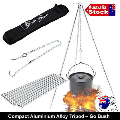 Hanging Tripod Stand Charcoal Bbq Camp-Fire Outback Buah Ducth Oven Pan