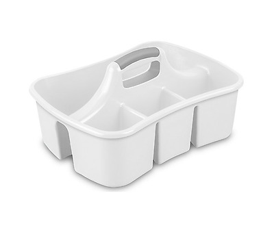 Divided Ultra Kitchen Caddy Cleaning Ware Sponges Brushes Gloves Storage Handle