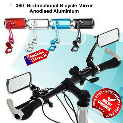 Fit All Bicycle Bike Cycle Adjustable Aluminium Rearview Side Safety Mirror