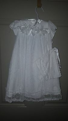 3m Months Girls Christening - Baptism Gown and bonnet
