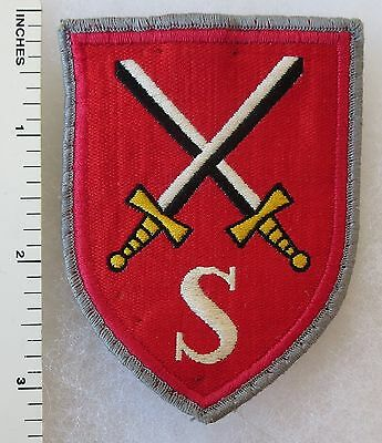 Vintage WEST GERMAN ARMY ARMORED PANZER SCHOOL BUNDESWEHR S PATCH
