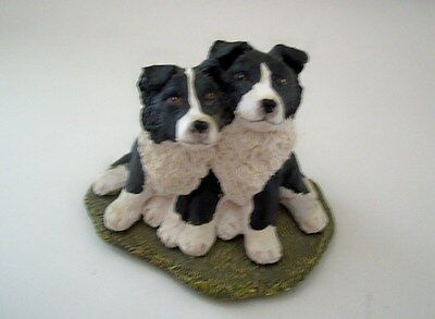 Border Collie Dog Figurines by Stef