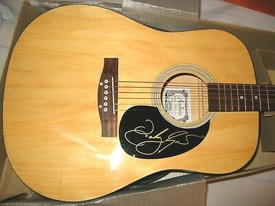 JOHNNY REID signed acoustic guitar VIDEO PROOF