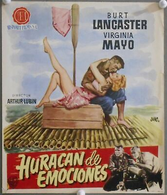 G7425 SOUTH SEA WOMAN BURT LANCASTER VIRGINIA MAYO original spanish pressbook