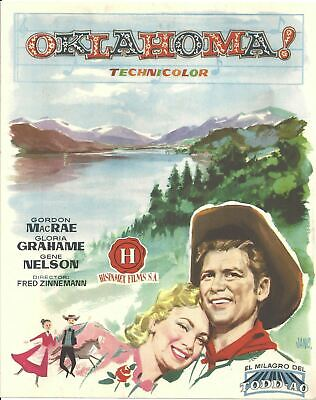 G7426 OKLAHOMA! GLORIA GRAHAME GORDON MAC RAE original spanish pressbook