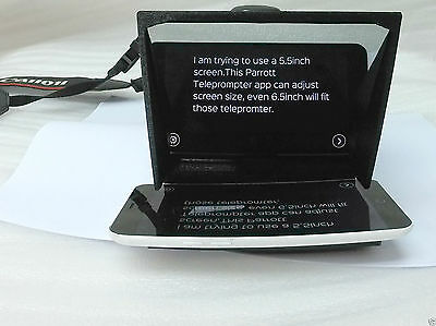 Mini Teleprompter XL for iPhone 6 6s 7 7s 110mm width mirror fit 4.7 inch screen
