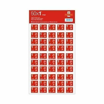 BRAND NEW 50 x Large Letter Royal Mail First 1st Class stamps