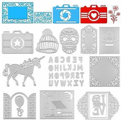 Metal DIY Cutting Dies Stencil Scrapbook Album Paper Card Embossing Craft Gift~