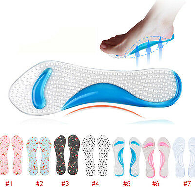 Gel Flat Feet Orthotic Arch Support Pain Relief Insoles High Heels Forefoot Pad